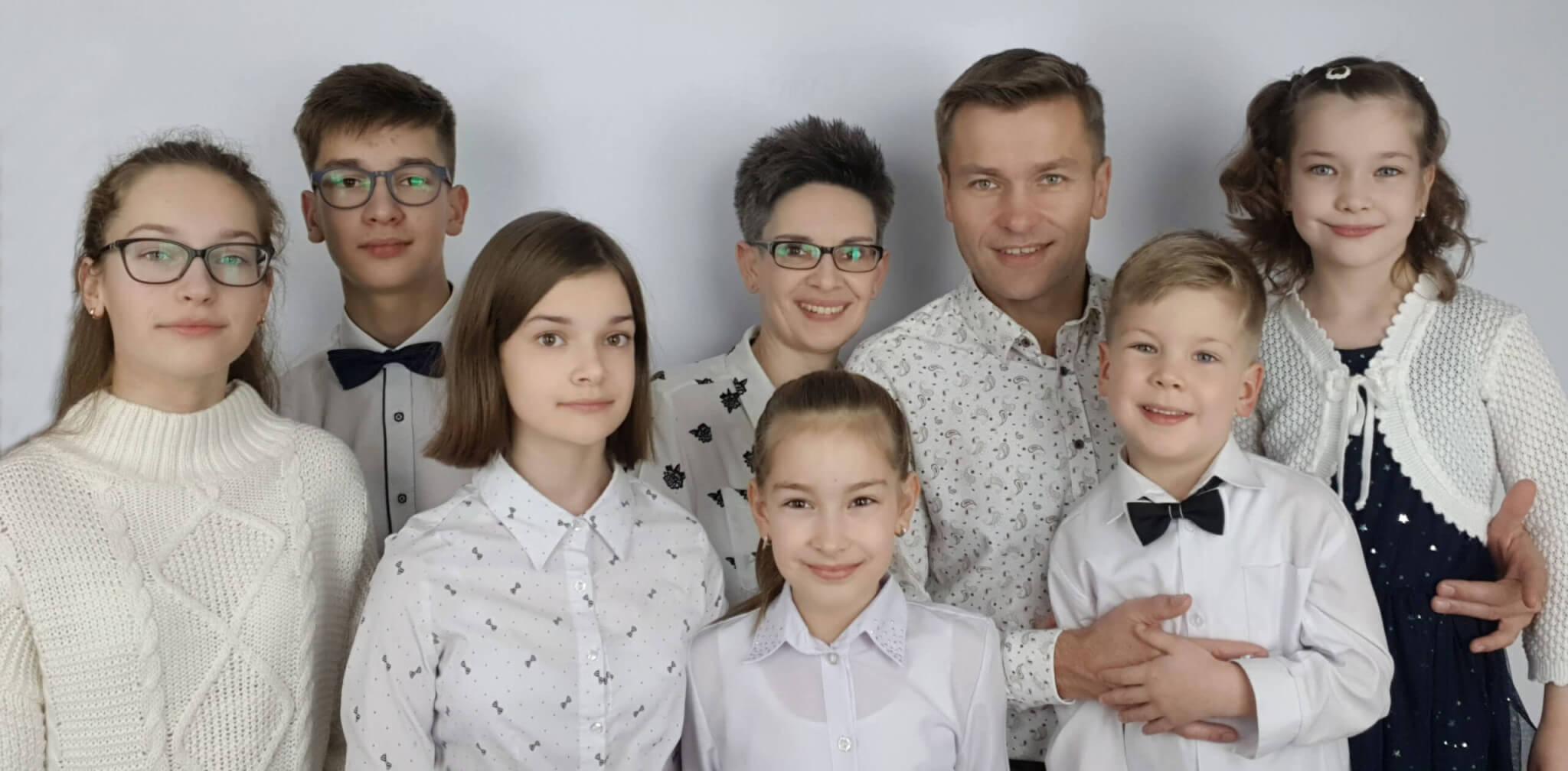 Benedykt i Katarzyna z dziećmi